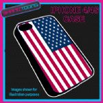 FITS IPHONE 4 / 4S PHONE USA AMERICA STATES FLAG EMBLEM PLASTIC COVER